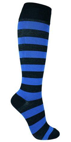Raidalliset pitkät sukat