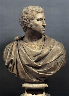 МИКЕЛАНДЖЕЛО. Скульптуры от 1502 Брут. 1540 Мрамор. Музей Национале дель Барджелло, Флоренция
