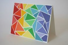 Greeting cards made with paint chips...pretty cool!
