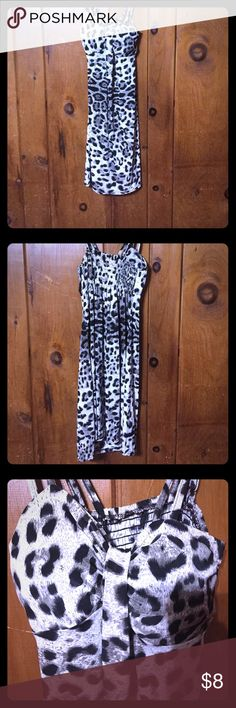 Cover up Comfortable cover up for the beach. Fitted top with a loose bottom. Animal printed with adjustable straps Swim Coverups