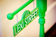 Personalized Sesame Street Inspired Sign in GREEN - As seen on Hostess with the Mostess and NBC's iVillage