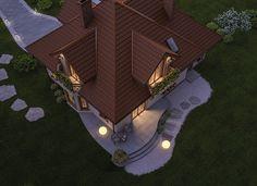 """""""Rodzimy"""" Murator C349 - Elegancki, okazały dom o bardzo klasycznym wyglądzie, z efektownymi lukarnami na poddaszu. Tradycyjny rys nadają mu przemyślane detale wykończeniowe – szprosy w oknach, drewniane obramowania wokół okien i drzwi, drewniane balustrady a także delikatnie rzeźbione podpory balkonu. Wnętrze domu tworzy przestrzeń zapewniającą wygodne życie dla dużej rodziny."""