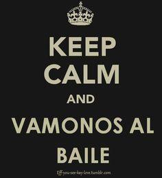 Baile, eso si, vamonos!!