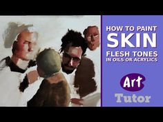 How To Mix & Paint Flesh Tones in Oils or Acrylics | Art Tutor  https://youtu.be/yyoY4fFt11A For most flesh tones, I begin with Transparent Oxide Red. It's a wonderfully chromatic reddish brown that exists in almost any skin tone.  I immediately subdue it with Titanium White and then from here it's a matter of responding to the reference image.