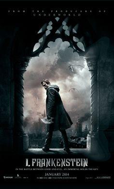 """""""#Frankenstein – Entre Anjos e Demônios"""" ganha cartaz animado   http://cinemabh.com/imagens/frankenstein-entre-anjos-e-demonios-ganha-cartaz-animado"""