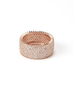 Rose Gold Seven Strand Eternity Ring
