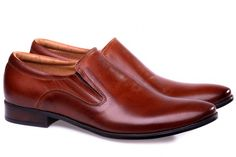 Brown leather shoes!