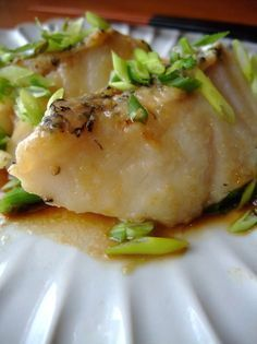 Sautéed White Fish in Ponzu Recipe by cookpad. Fish Dishes, Seafood Dishes, Seafood Recipes, White Fish Recipes, Asian Recipes, Japanese Recipes, Asian Foods, Japanese Food, Ponzu Recipe