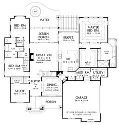 Floor Plans AFLFPW75778 - 2 Story Craftsman Home with 4 Bedrooms, 3 Bathrooms and 3,032 total Square Feet