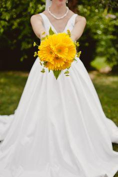 yellow gerbera daisy bouquet  Emily Waid photography