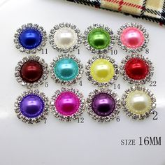 HOT 10PCS/LOT 16MM Color Ivory Flat Back Rhinestone Button Metal Crystal DIY Wedding Invitation Girl Hair Flower Accessory #clothing,#shoes,#jewelry,#women,#men,#hats,#watches,#belts,#fashion,#style