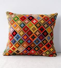 Joy Thorpe | Online furniture | curious | art shop selling original prints and antiques | Vintage Cross Stitch Cushion