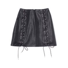 レザースピンドルスカート「BUBBLES ONLINE STORE【バブルス公式通販サイト】」 ❤ liked on Polyvore featuring tops and skirts