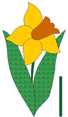 Daffodil to applique - full color view/gypsy caravan