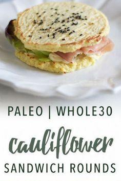 Paleo cauliflower sandwich rounds | Empowered Sustenance