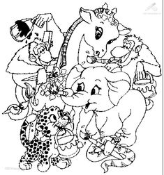 Safari Animals Coloring Pages for Adults | 1001 COLORINGPAGES : Animals >> Miscellaneous >> Animals Coloring Page