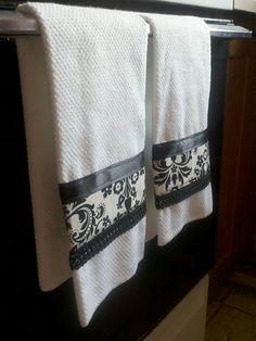 DIY embellished hand towels