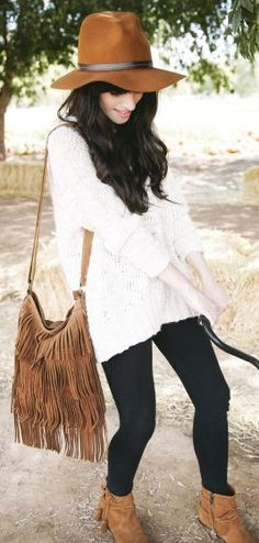 FASHION FIX: Fringe! Add a bohemian touch to your fall ensemble with a fringe purse!