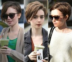 lily collins short hair - Google Search