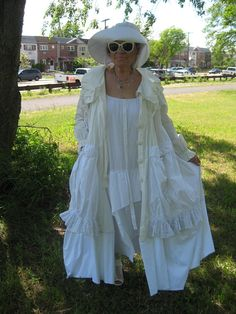 15 % off. Upcycled lagenlook/bohemian long Summer coat.