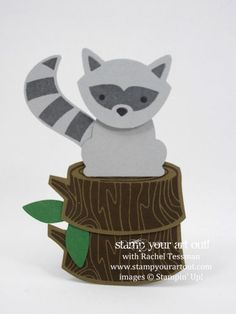 Irresistibly Floral & Foxy Friends Racoon Cards - Stampers With ART Stars June Make-N-Takes… #stampyourartout #stampinup - Stampin' Up!® - Stamp Your Art Out! www.stampyourartout.com