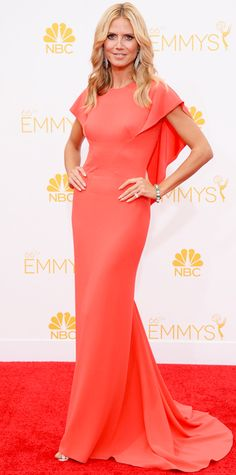 Emmy Awards 2014 Red Carpet Photos - Heidi Klum in Zac Posen from #InStyle
