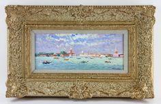 6047 - Van der Plas, View of Venice, Oil on Board October 1st Estate Auction | Official Kaminski Auctions