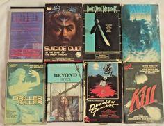 HALLOWEEN LOT of EIGHT BIG BOX VHS cases Horror  ALIEN DEAD DRILLER Prism + FREE