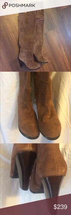 Beautiful Colin Stuart over the knee leather boots Beautiful soft Colin Stuart over the knee brown leather boots unlined. Colin Stuart Shoes Over the Knee Boots