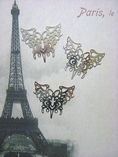 Laser Lace Plated Brass Filigree Component 43 x by ACreativeLink, $2.75