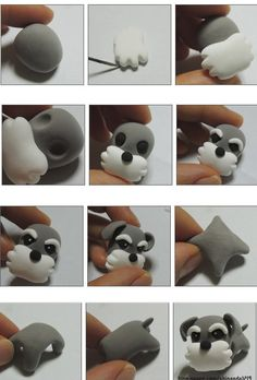 Puppy Cake, Make Tutorial, Polymer Clay Animals, Clay Figurine, Polymers, Clay Art, Fondant, Tutorials, Puppies
