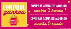 Comprar é bom, mas comprar e ganhar é melhor ainda <3 A PROMO dessa semana tem brinde para você! Corree www.palaciodaarte.com.br