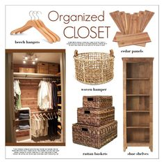 """""""Organized Closet"""" by lgb321 ❤ liked on Polyvore featuring interior, interiors, interior design, home, home decor, interior decorating, Home Decorators Collection, Home, closet and organized"""