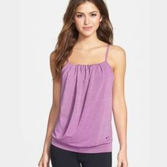 Nike serenity cooling yoga top small purple new Nike serenity cooling yoga top small purple new NO TRADES built in bra Nike Tops