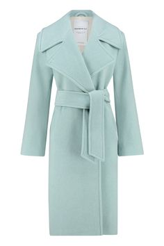 Trenchcoat, woolblend, ice-blue Hippie Chic, Boho Chic, Ibiza Fashion, Blue Coats, Glam Rock, Double Breasted, Winter Outfits, Duster Coat, Clear Spring