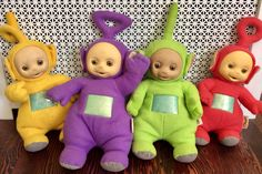 4 Vintage Teletubbies Talking Plush Dolls by Playskool, Teletubby Dolls, Teletubbies, Animated Teletubby Doll, Talking Teletubbies Diy Doll Pattern, Barbie Cat, Vintage Oddities, Kid Sister, Creepy Dolls, Previous Life, Plush Dolls, Miniature Dolls, 1990s