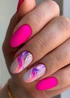 Acrylic Nail Designs, Nail Art Designs, Acrylic Nails, Cat Nails, Pink Nails, Stylish Nails, Trendy Nails, Sunflower Nail Art, Square Nail Designs