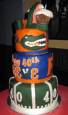 Florida Gators cake for a 40th birthday party by Rosie's Treats and Sweets, via Flickr