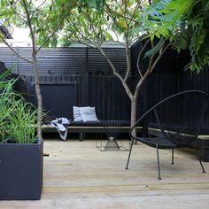 New Black Garden Furniture Backyards 30 Ideas Outdoor Areas, Outdoor Rooms, Outdoor Living, Outdoor Decor, Terrace Design, Landscape Designs, Backyard Landscaping, Backyard Decks, Hydrangea Landscaping