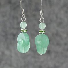 Aventurine jade earrings female 925 pure silver fashion jewelry women accessories