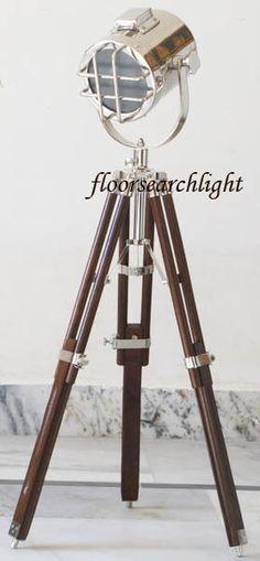 NAUTICAL STUDIO COLLECTIBLE SEARCHLIGHT DESIGNER HOME DECOR TABLE TOP SPOT LAMP