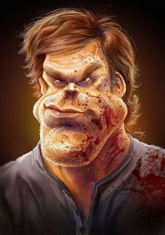 Dexter.....Caricatures By Anthony Geoffroy