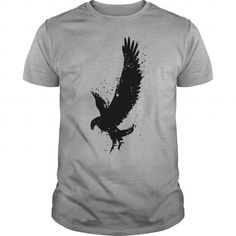Cool Eagle Brush Strokes Splatters On Bright T-Shirts