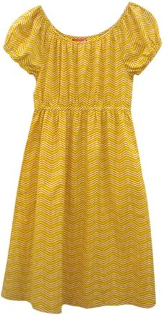 betsy yellow zigzag dress from Pink Chicken...with navy tights and brown boots!