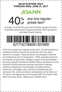 95 Best Joann Fabrics Coupons Discounts Images Joann