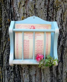 Wood wall shelf home decor vintage up cycled by FrenchCountryLove, $35.00