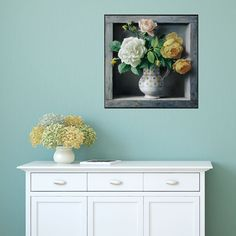 Mixed Roses Floral Painting Wall Decal by Pieter Wagemans