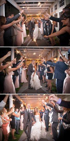 Kimberly Brooke Photography | Kelly and Wayne | Chesapeake Bay Beach Club Wedding | http://kimberlybrooke.com #sparklerexit #sparklershot #sparkler