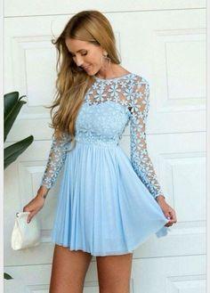 Light blue dress short