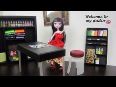 How to make studio furniture for your Monster High Dolls-Table,chair,bookcase & bonus mirror